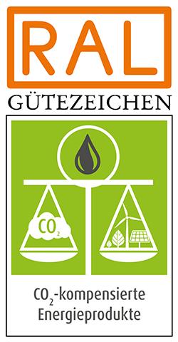 Gütezeichen CO2 Kompensation